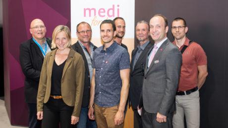 Gruppenbild der medi for help Volontäre auf der OTWorld 2018