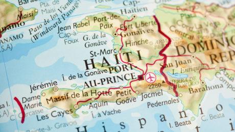 Bild von Haiti auf einer üblichen Landkarte